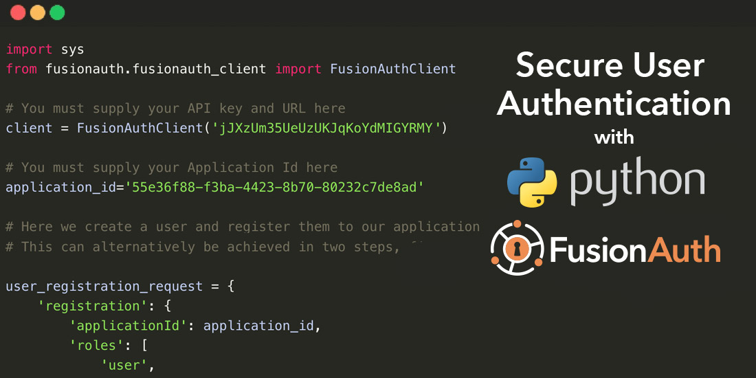 Implementing FusionAuth with Python - From Setup to First App