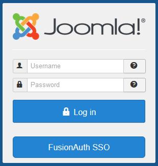 Connexion administrateur avec le bouton de connexion FusionAuth SSO.