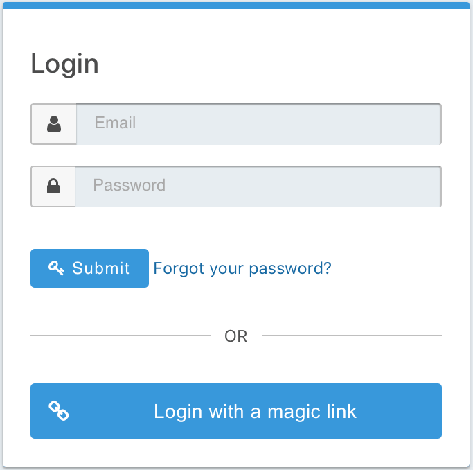 Login with a magic link