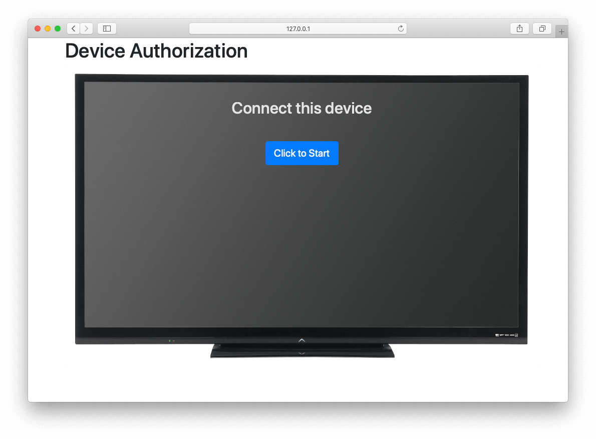 OAuth Device Example - Connect